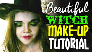 halloween make up tutorial pretty wicked witch youtube