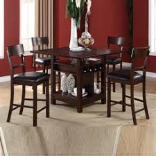 breakfast table with storage storage dining table contemporary poundex counter height with wine