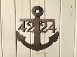 themed signs anchor house numbers anchor signs themed