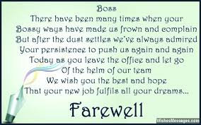 farewell messages for boss goodbye quotes for boss