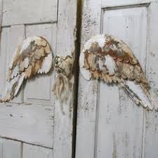 Angel Home Decor Angel Wings Wall Decor With Heart White And By Anitasperodesign