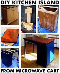 kitchen island microwave cart diy turn a common microwave cart into a vintage kitchen island