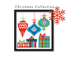 mod ornaments cross stitch pattern от tinymodernist