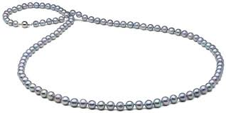 blue pearl necklace images Natural color baroque blue akoya opera length pearl necklace 8 0 jpg