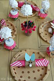 Easter Decorating Ideas Table Setting by Easter Kids Table Setting View From The Fridgeview From The Fridge
