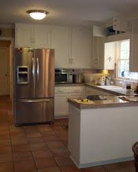 small u shaped kitchen ideas saved for refrigerator position kitchen remodel ideas