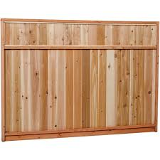 6 ft h x 8 ft w pressure treated pine dog ear fence panel 158083