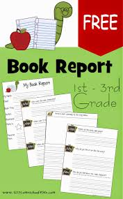 2nd grade book report template free book report template