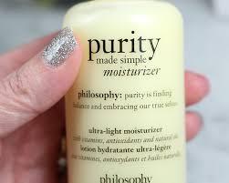 simple light moisturizer review philosophy purity made simple ultra light moisturizer review