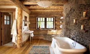 Rustic Bathroom Ideas Pictures Cabin Bathroom Ideas Home Design Styles