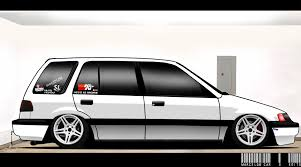 volkswagen wagon slammed civic wagon 1 5 12v 1989 stance clean slammed r17 u0027 by marcelux on