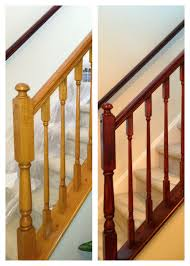 best solutions of how to refinish indoor stair railings with how