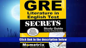 favorite book gre literature in english test secrets study guide