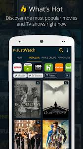 justwatch guide for cinema netflix hulu u0026 more android apps