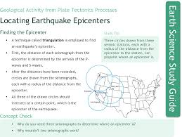 locating earthquake epicenters study aids earth science ck