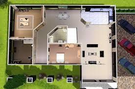 the sims 3 modern house floor plans