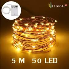 copper wire lights battery leegoal led fairy string lights indoor and outdoor 5m 50 leds copper