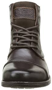 mens biker style boots amazon com levis emerson boots uk 10 brown shoes