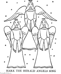 nativity coloring pages angel coloring
