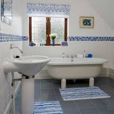 blue bathroom tile ideas modern bathroom remodeling ideas diy tiled wall design with