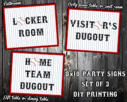 themed signs instant baseball themed birthday party signs