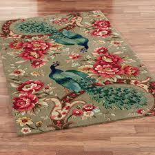 peacock flora wool area rugs