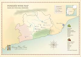 Italy Wine Regions Map Penedes Wine Region Map Cellartours