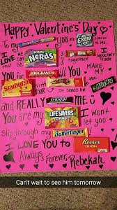 valentines day ideas for boyfriend made this for g boyfriend s day card candy poster