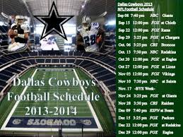 2013 dallas cowboys football schedule nfl preview prediction