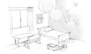 chambre en perspective dessin de chambre en 3d emejing perspective facile gallery design
