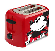 mickey mouse kitchen appliances amazon com disney dcm 21 mickey mouse 2 slice toaster red black