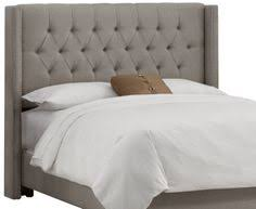 Grey Tufted Headboard Found It At Allmodern Hayworth Tufted Linen Upholstered Wingback