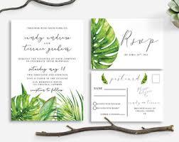 tropical wedding invitations tropical wedding invitation tropical palm leaves invite