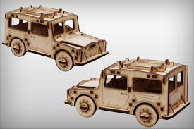 land rover wooden jeep station 3d puzzle mdf 4 mm small wood crafts pinterest