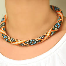 beaded necklace rope images Best beaded rope necklace pattern products on wanelo jpg