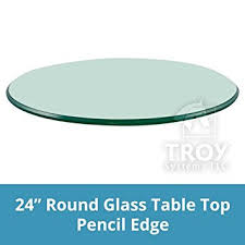 Teal Table L Troysys Glass Table Top Pencil Edge Tempered Glass 24 L