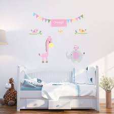 girls wall stickers personalised baby girl wall stickers