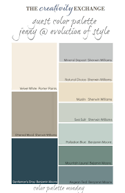 paint color and mood guest color palette jenny from evolution of style