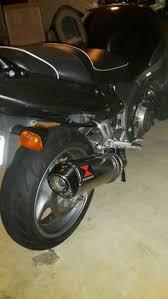 cbr1100 with full blackwidow exhaust honda super blackbird 2000