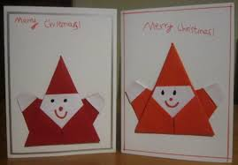 origami father christmas cards mermaids makings