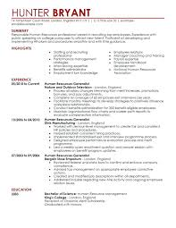 hr resume exles sle resume human resources hr human resources resume hr