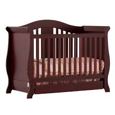 Cherry Convertible Crib Vittoria 3 In 1 Fixed Side Convertible Crib In Cherry Walmart