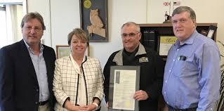 bureau president ritchie honors york farm bureau president david fisher ny