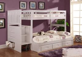 bunk beds bedroom set bedroom cute white twin loft bed with pink polkadot blanket on the