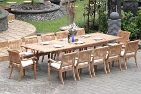 Dining Tables For 12 Amazon Com New 13 Pc Luxurious Grade A Teak Dining Set Large