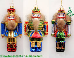 hand painted traditional christmas glass nutcracker ornament craft