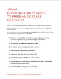 Examples Of Skills To Put On A Resume Quick And Dirty Guide To Freelance Taxes