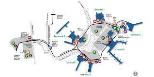 map new map airport map airport guide jfk international airport port