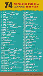 74 compelling fill in the blank blog post titles infographic