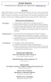 Elementary Teacher Resume Sample by Teacher Resume Sample Hire Me 101
